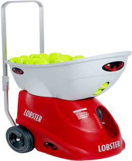 Lobster Elite Freedom Battery Powered Tennis Ball Machine